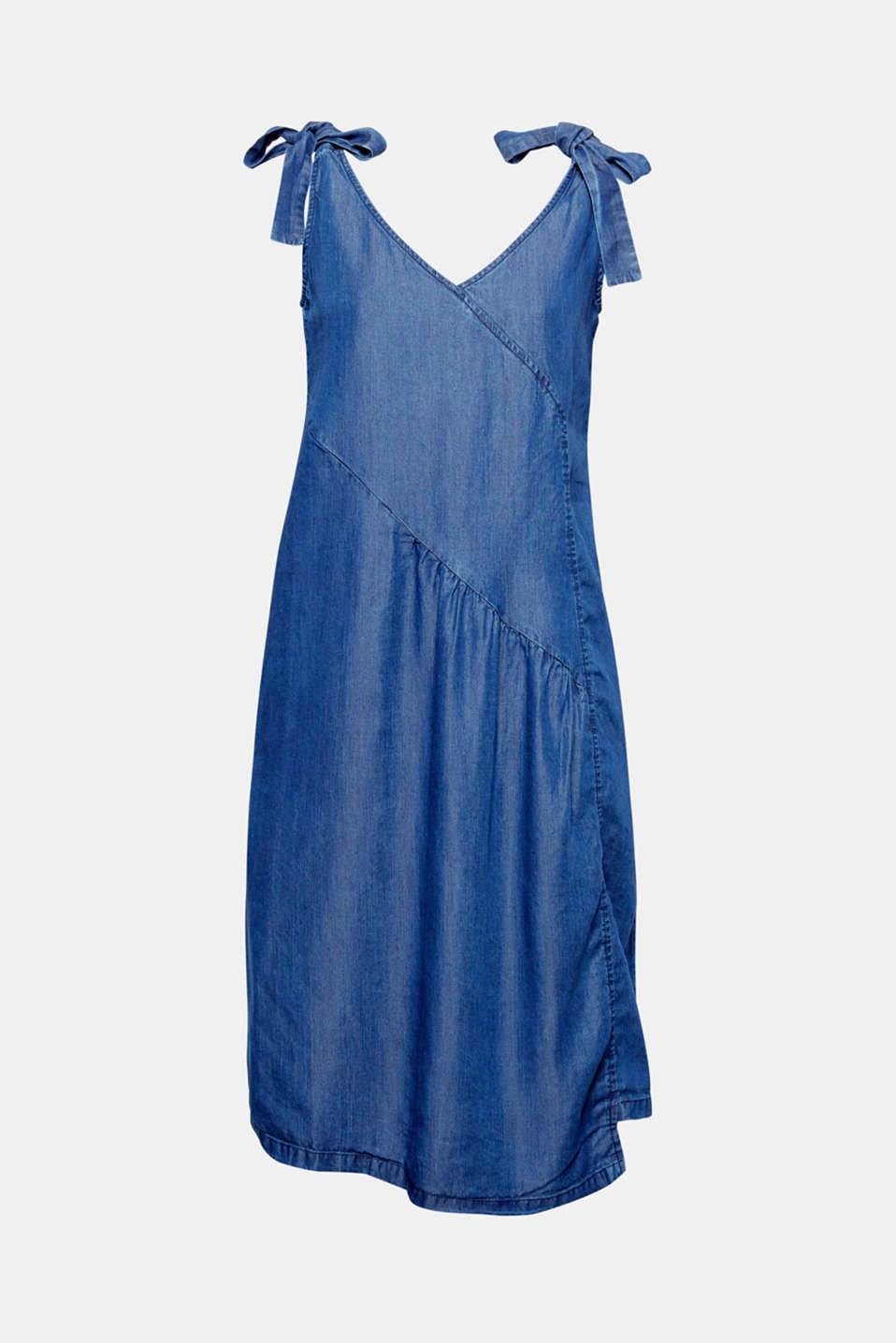 Esprit - Flowing denim-look lyocell dress at our Online Shop