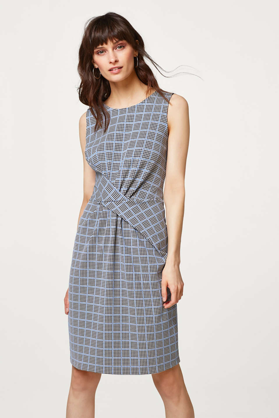 Esprit - Stretch jersey dress with a draped effect