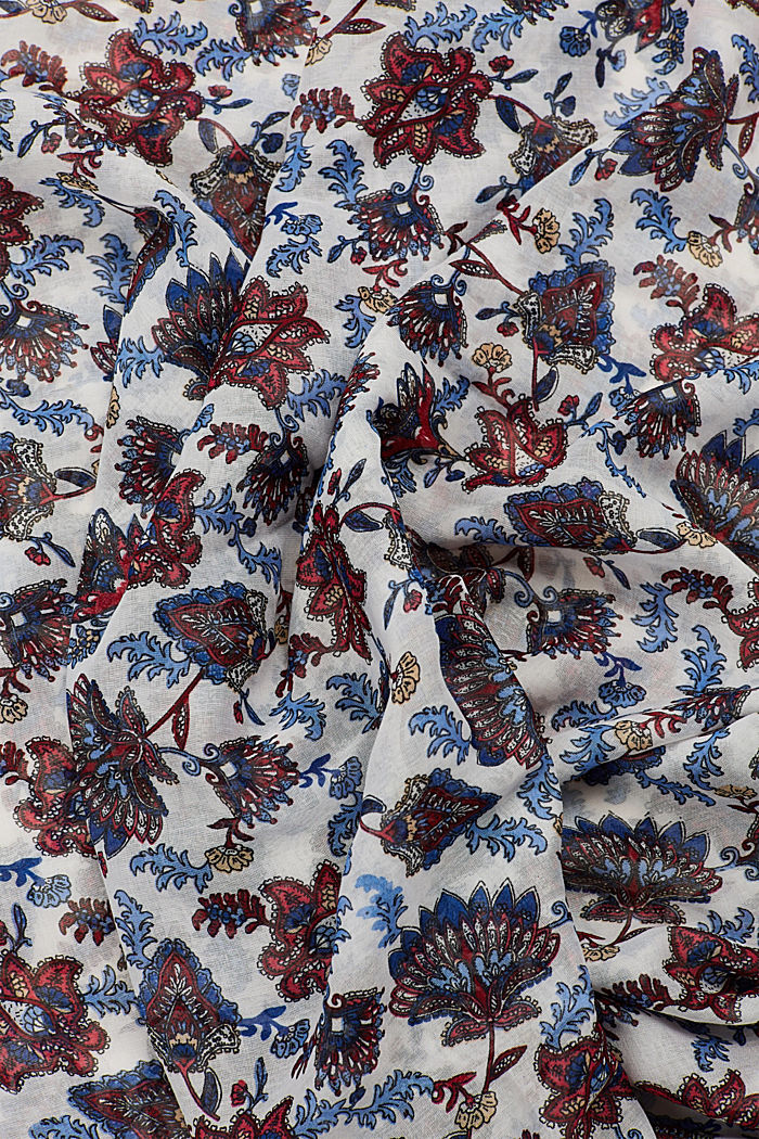 Loop-Schal mit Blumen-Muster, OFF WHITE, detail image number 1