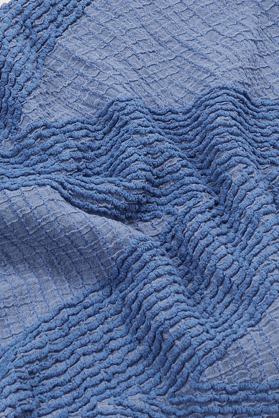 Shawls/Scarves, GREY BLUE, detail image number 2