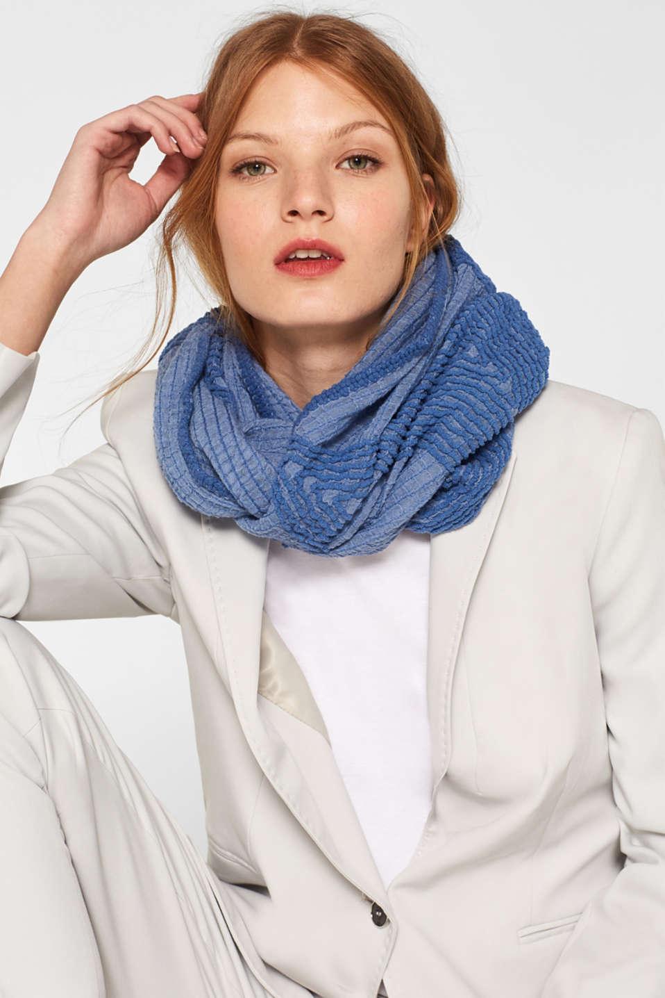 Shawls/Scarves, GREY BLUE, detail image number 1
