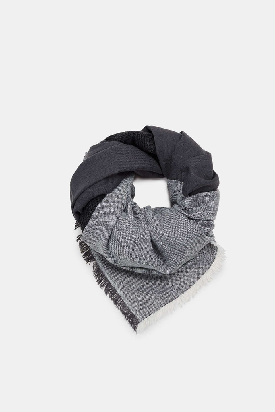edc - Woven scarf with tonal block stripes