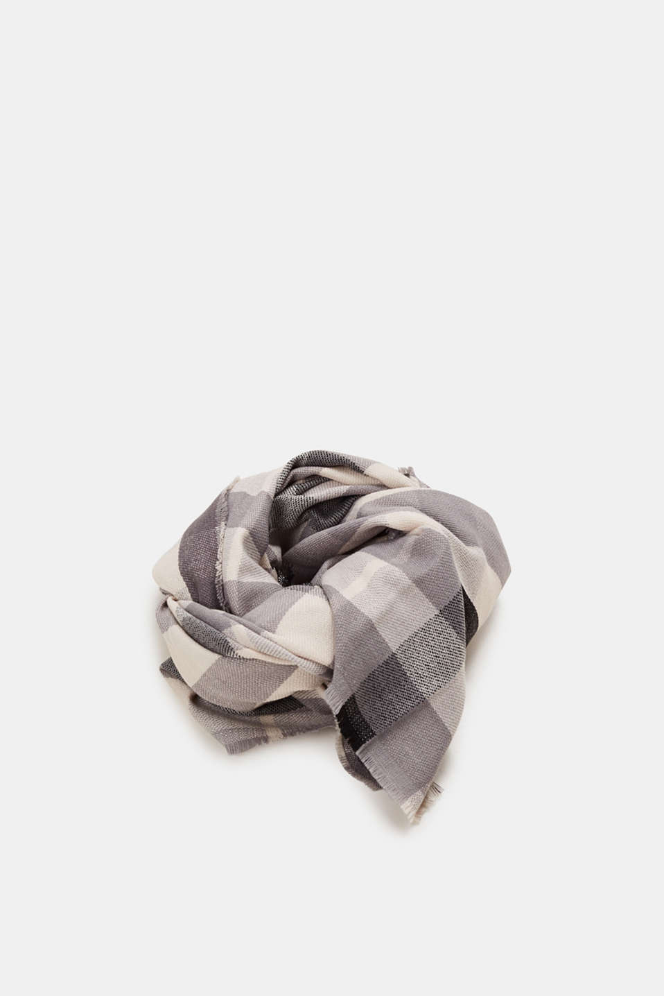 edc - Oversized scarf with a check pattern