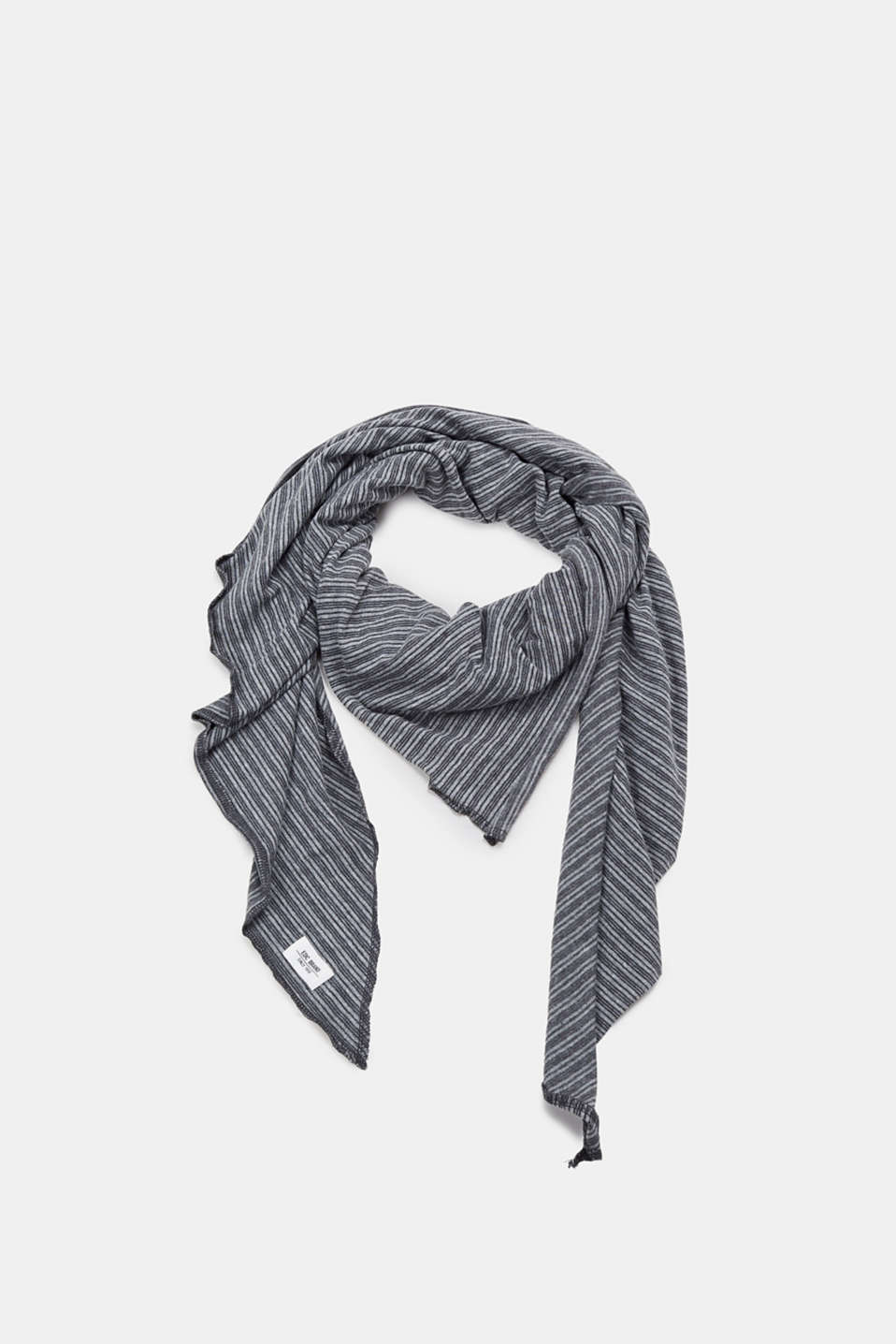 edc - Striped triangle scarf made of 100% cotton