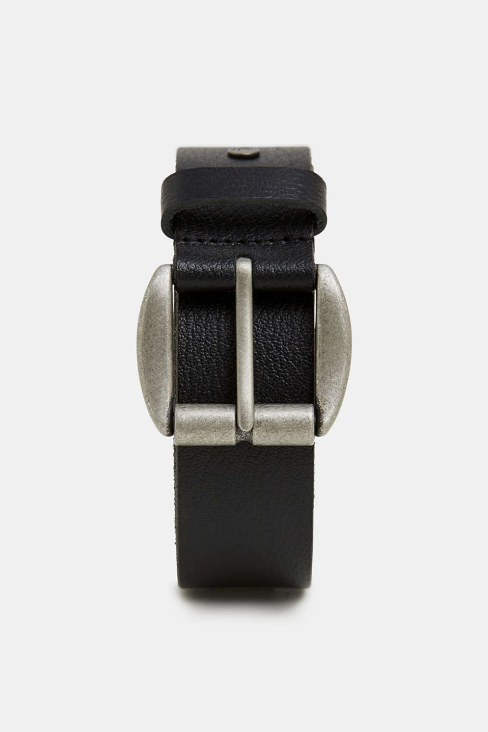 edc - Leather belt with a metal buckle