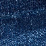Stretch denim shorts with whiskering, BLUE DARK WASH, swatch