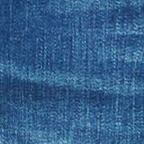 Stretch denim shorts with whiskering, BLUE MEDIUM WASH, swatch
