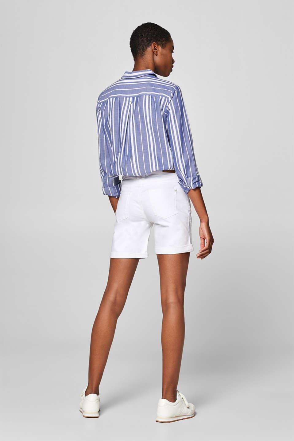 Shorts denim, WHITE, detail image number 3