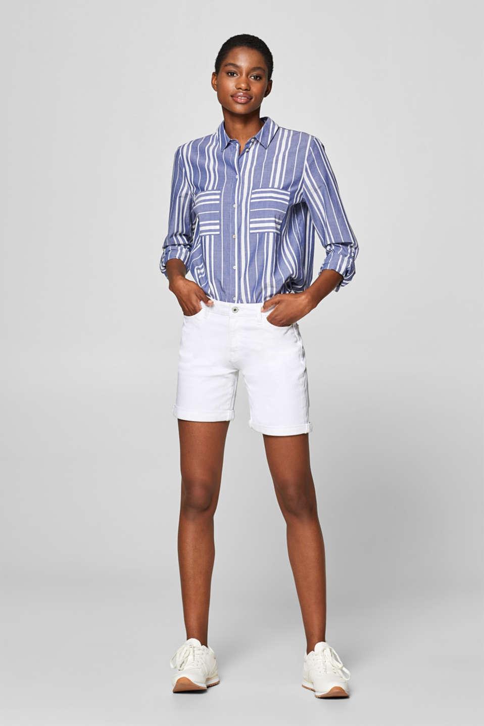 Shorts denim, WHITE, detail image number 1