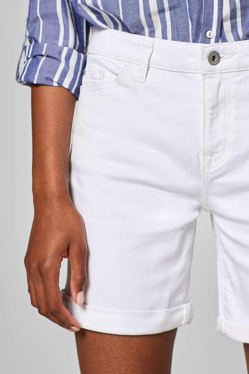 Shorts denim, WHITE, detail image number 2
