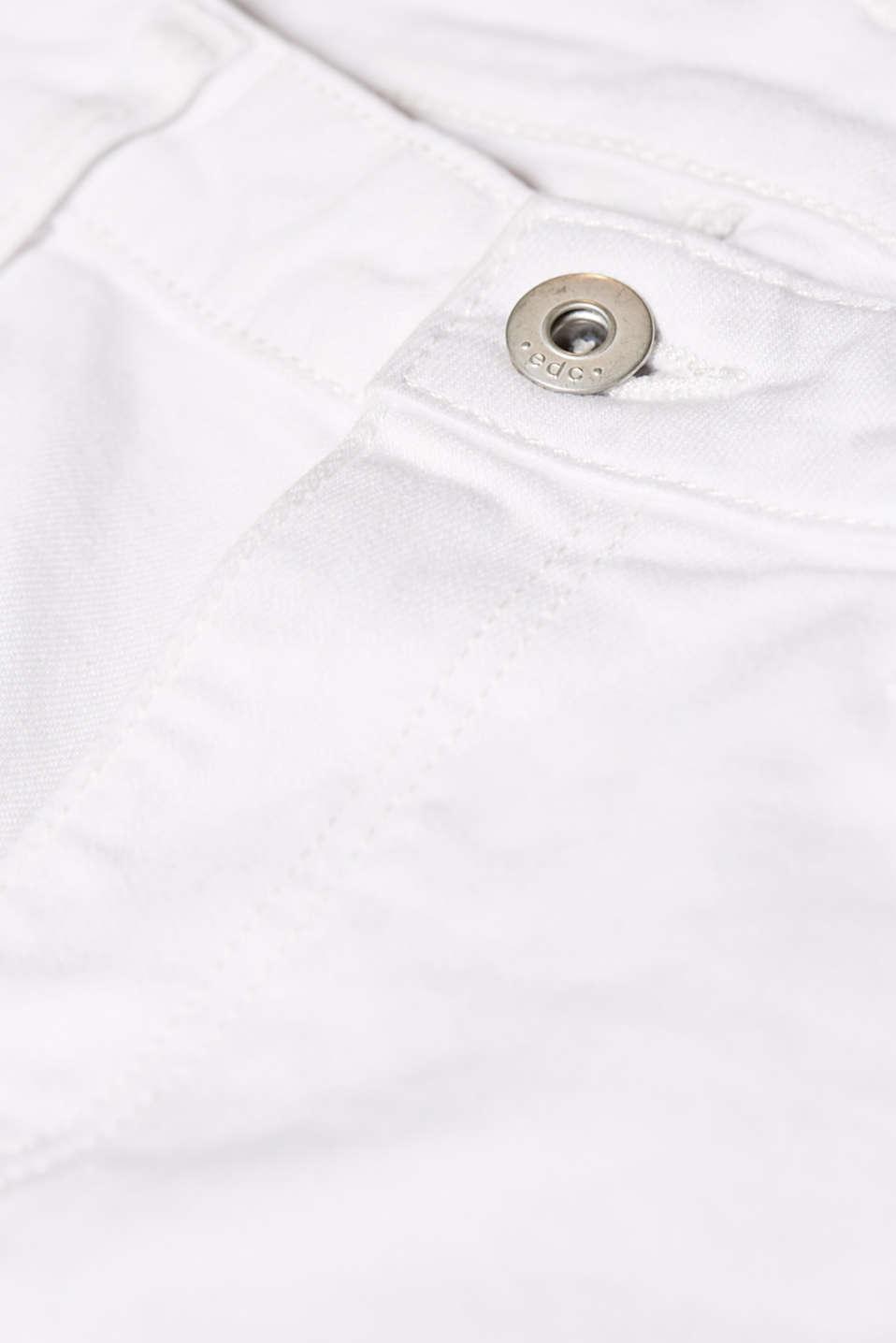 Shorts denim, WHITE, detail image number 4