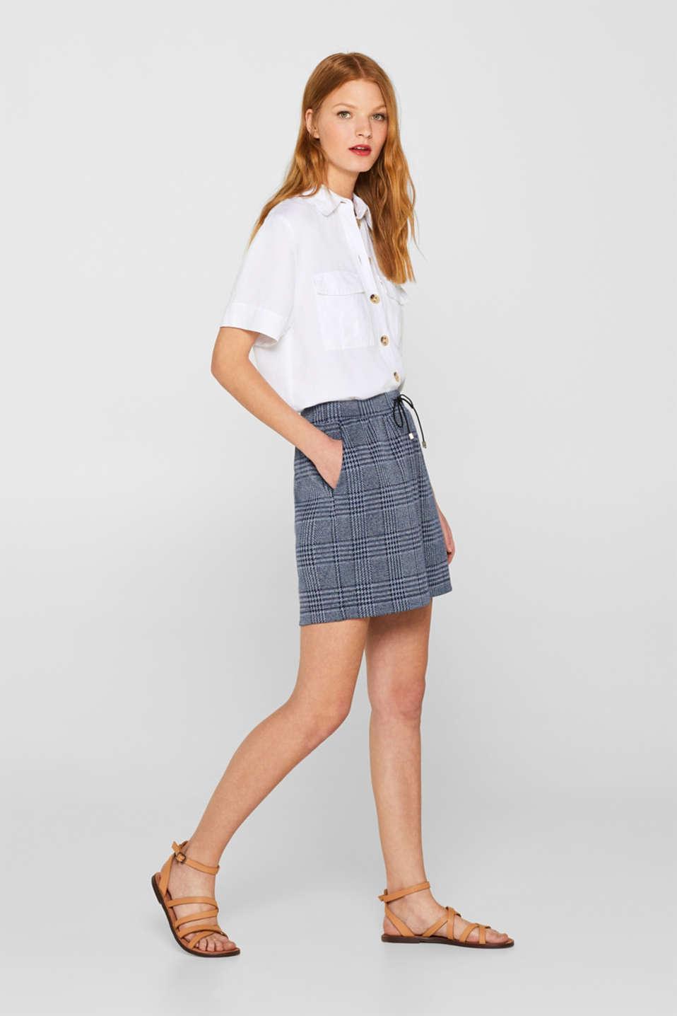 775ce2ba3 edc : Falda en jersey con diseño jacquard de cuadros en la Online-Shop