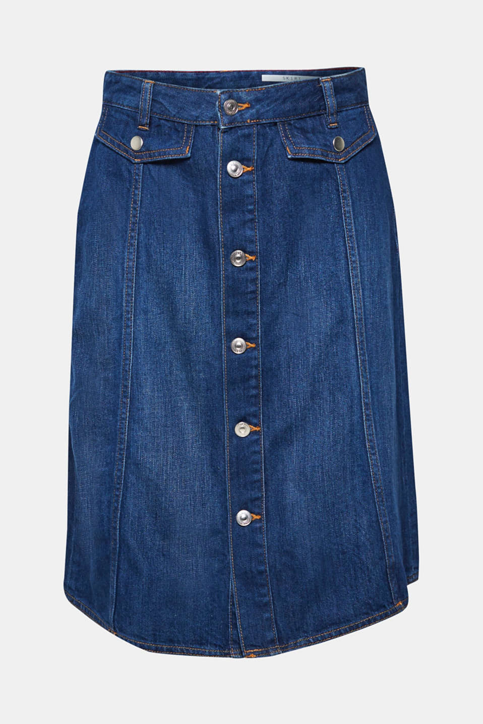 Skirts denim, BLUE DARK WASH, detail image number 8