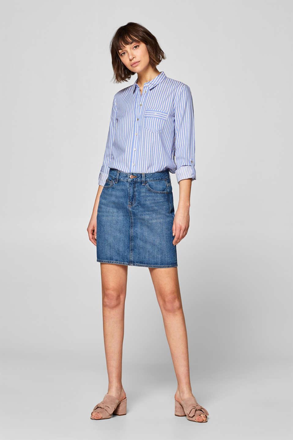 23e8de080f edc - Denim skirt with organic cotton, 100% cotton at our Online Shop