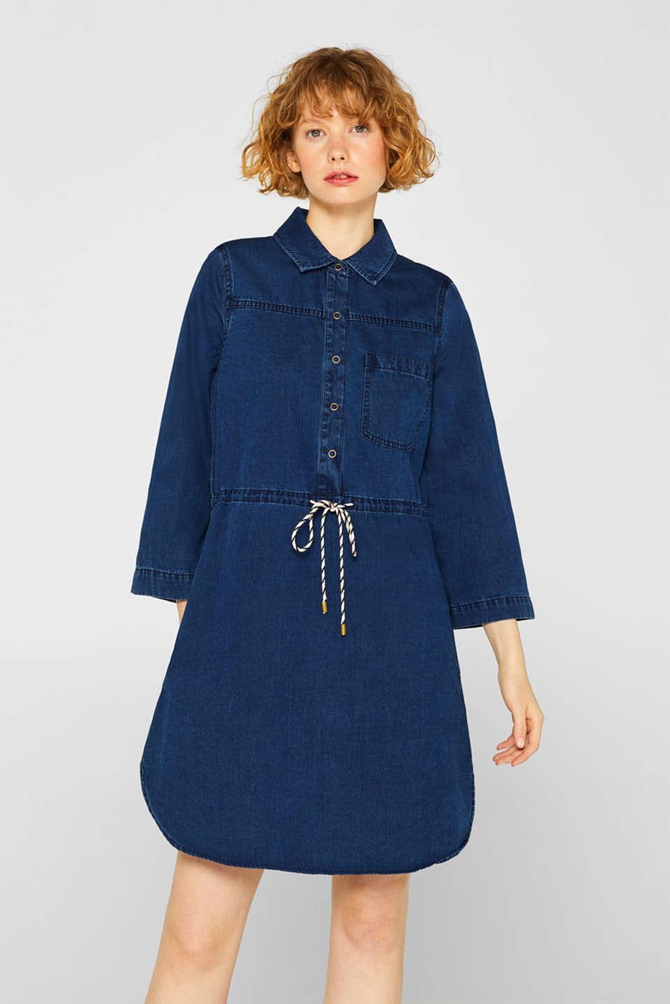 Dresses denim, BLUE DARK WASH, detail image number 0