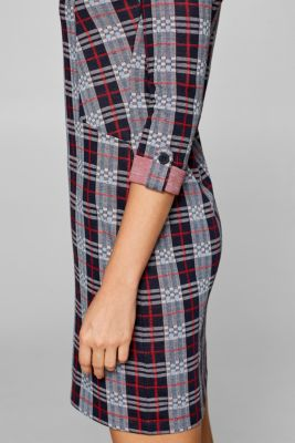 Stretch dress in double-faced jersey