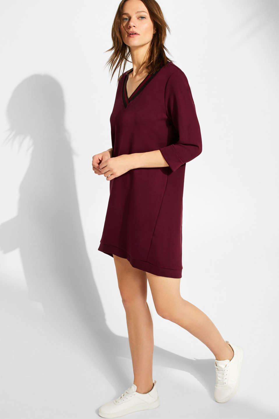 edc - Jersey-Stretch-Kleid mit lockerem Cut