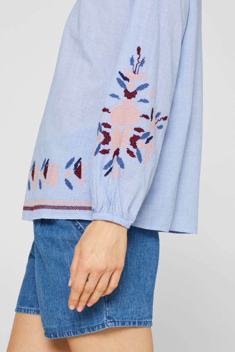 Blouses woven, LIGHT BLUE, detail image number 2