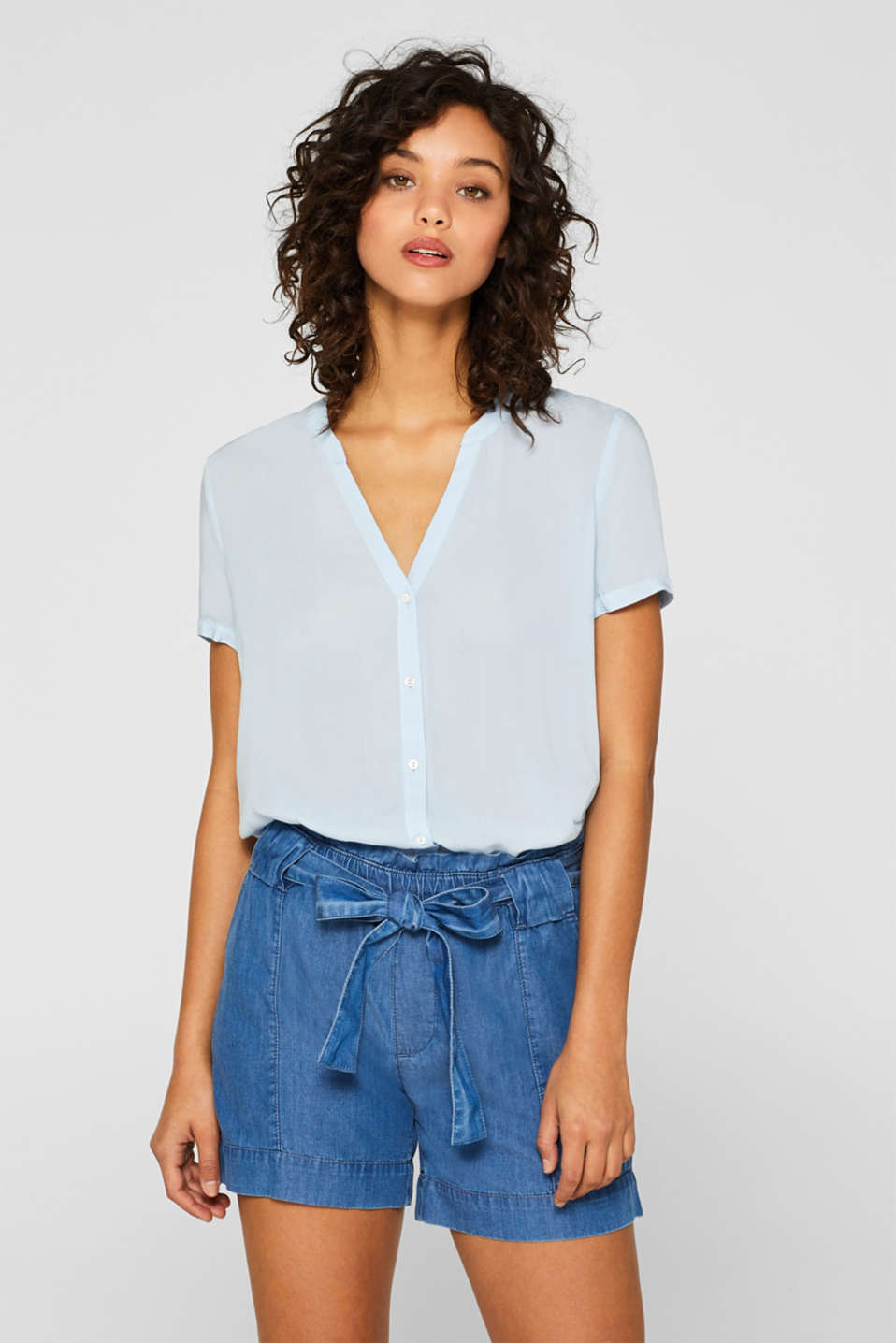 edc - Short sleeve blouse with LENZING™ ECOVERO™