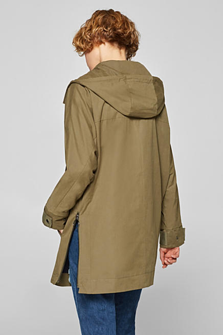 Hooded parka with a soft outer surface 2cf7233f26c7d