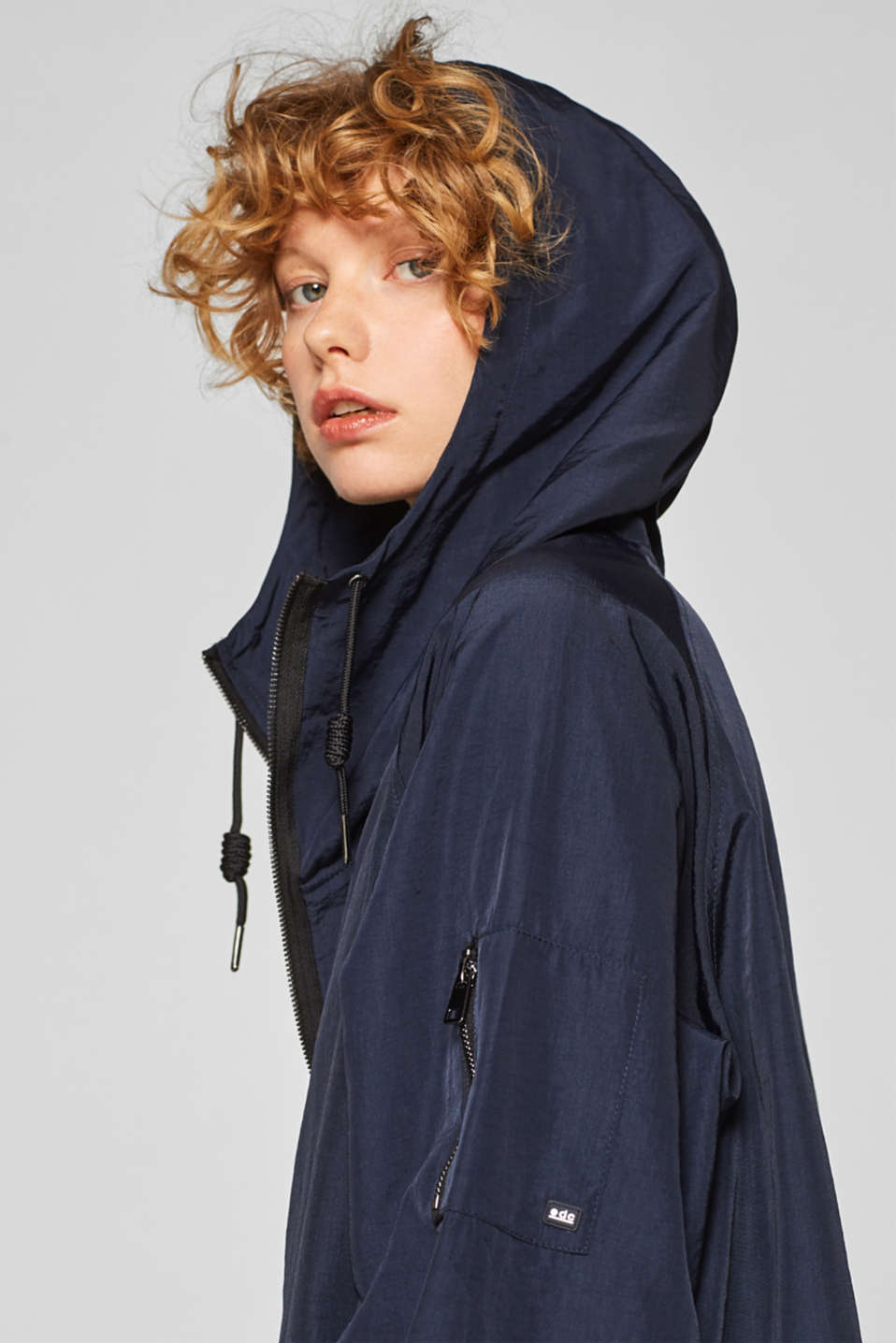 Coats woven, NAVY, detail image number 6