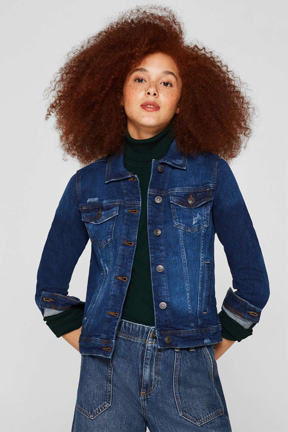 edc - Stretch denim jacket with a vintage finish