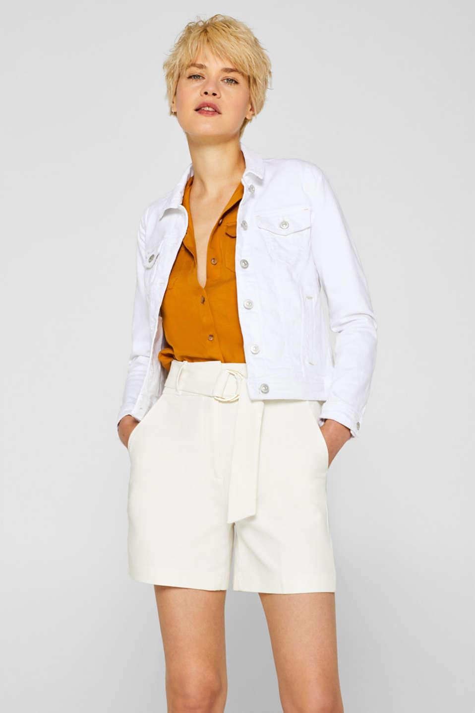 Jackets indoor denim, WHITE, detail image number 0