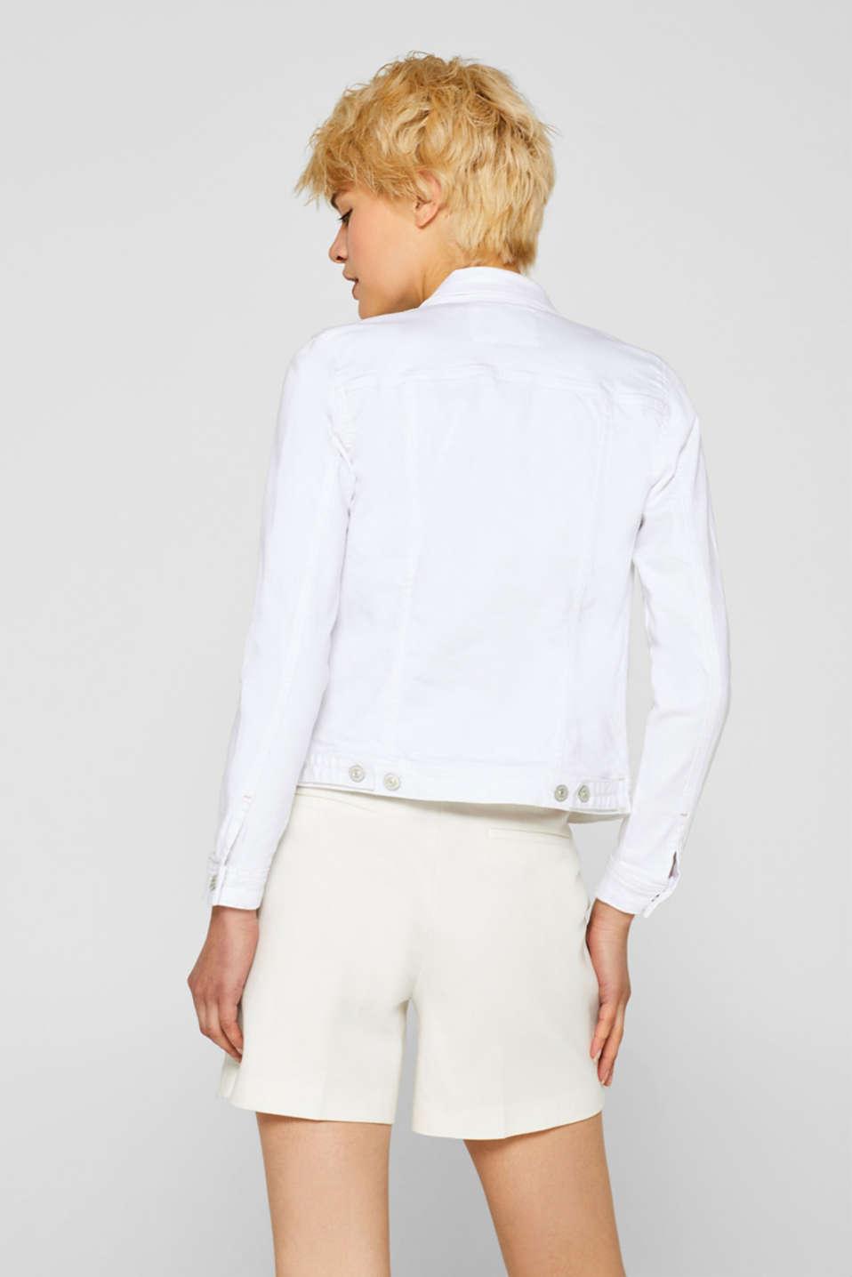 Jackets indoor denim, WHITE, detail image number 3
