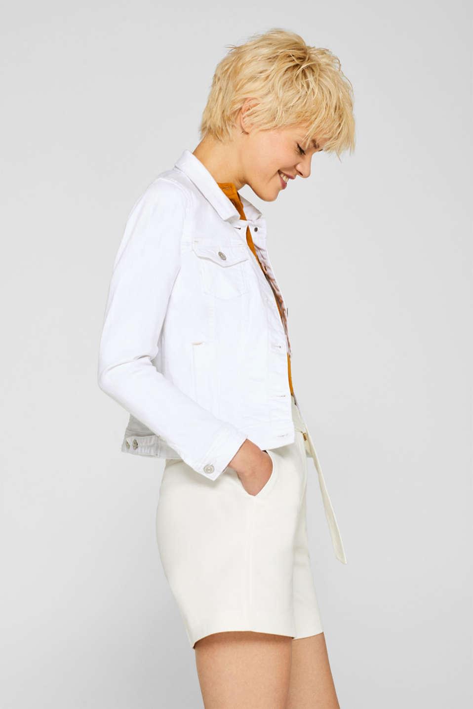 Jackets indoor denim, WHITE, detail image number 5