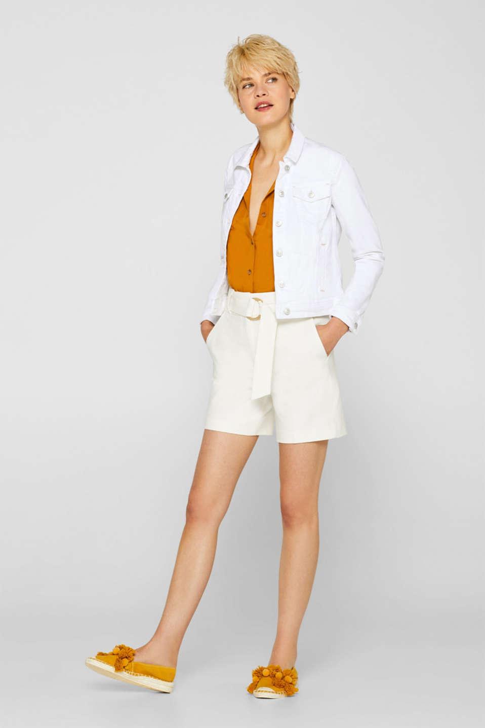 Jackets indoor denim, WHITE, detail image number 1