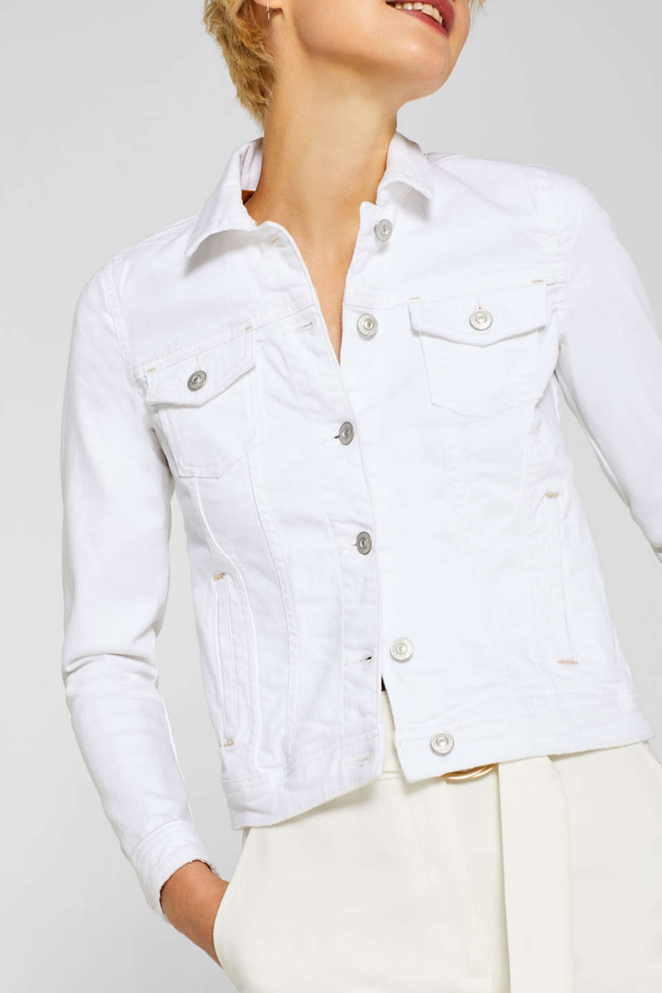 Jackets indoor denim, WHITE, detail image number 2
