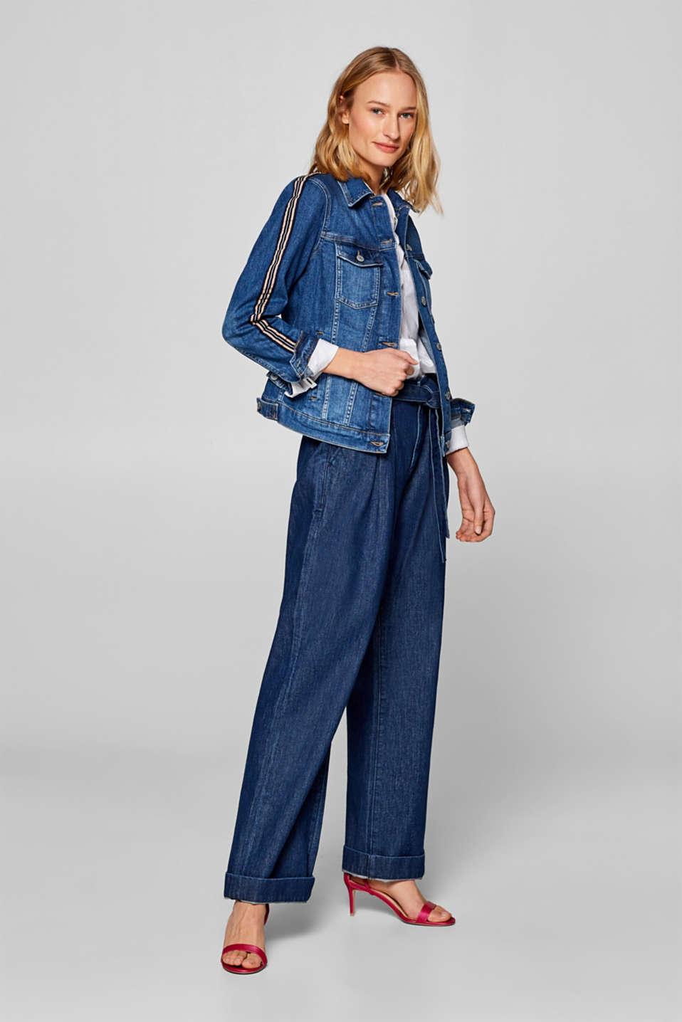Jackets indoor denim, BLUE MEDIUM WASH, detail image number 1