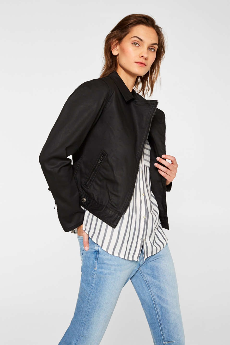 Jackets indoor woven, BLACK, detail image number 5