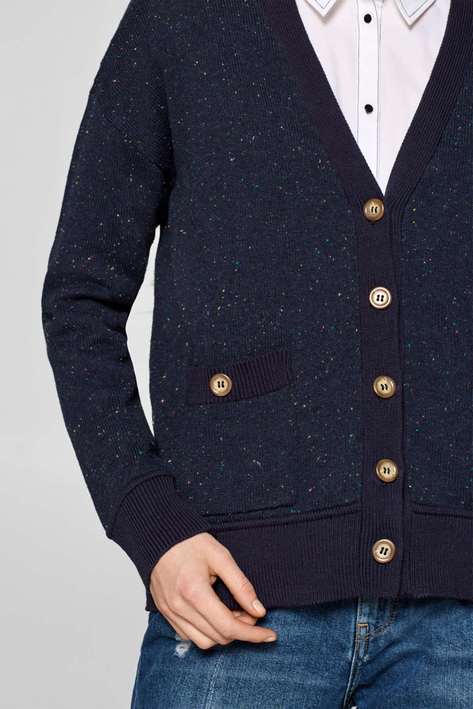 Sweaters cardigan, NAVY, detail image number 2
