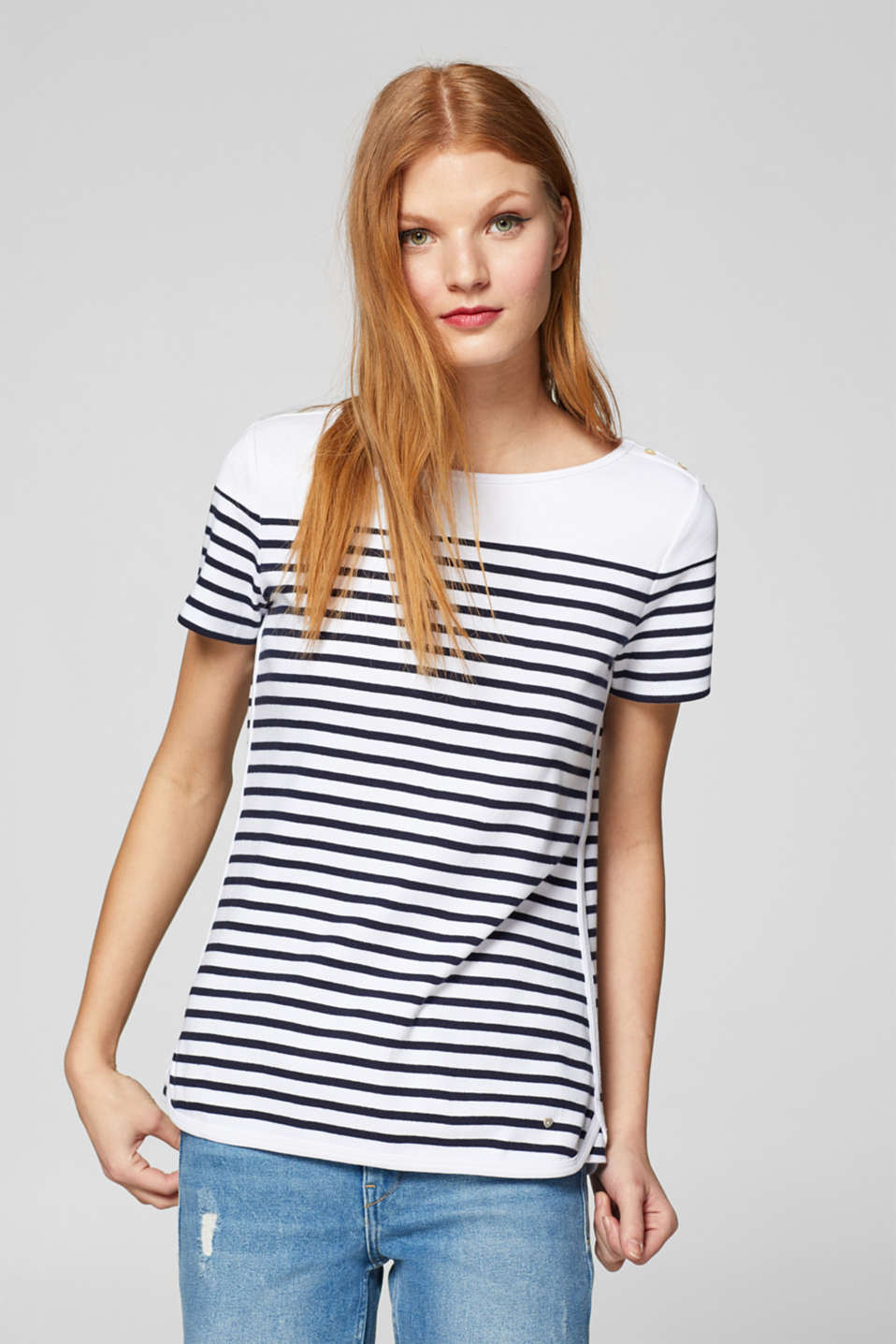 edc - Striped T-shirt in 100% cotton