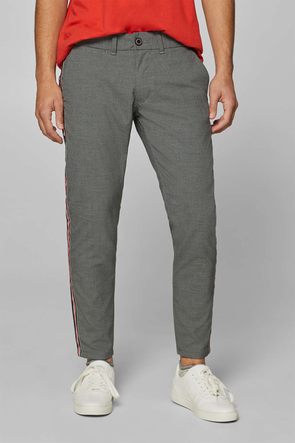 edc - Houndstooth trousers with racing stripes