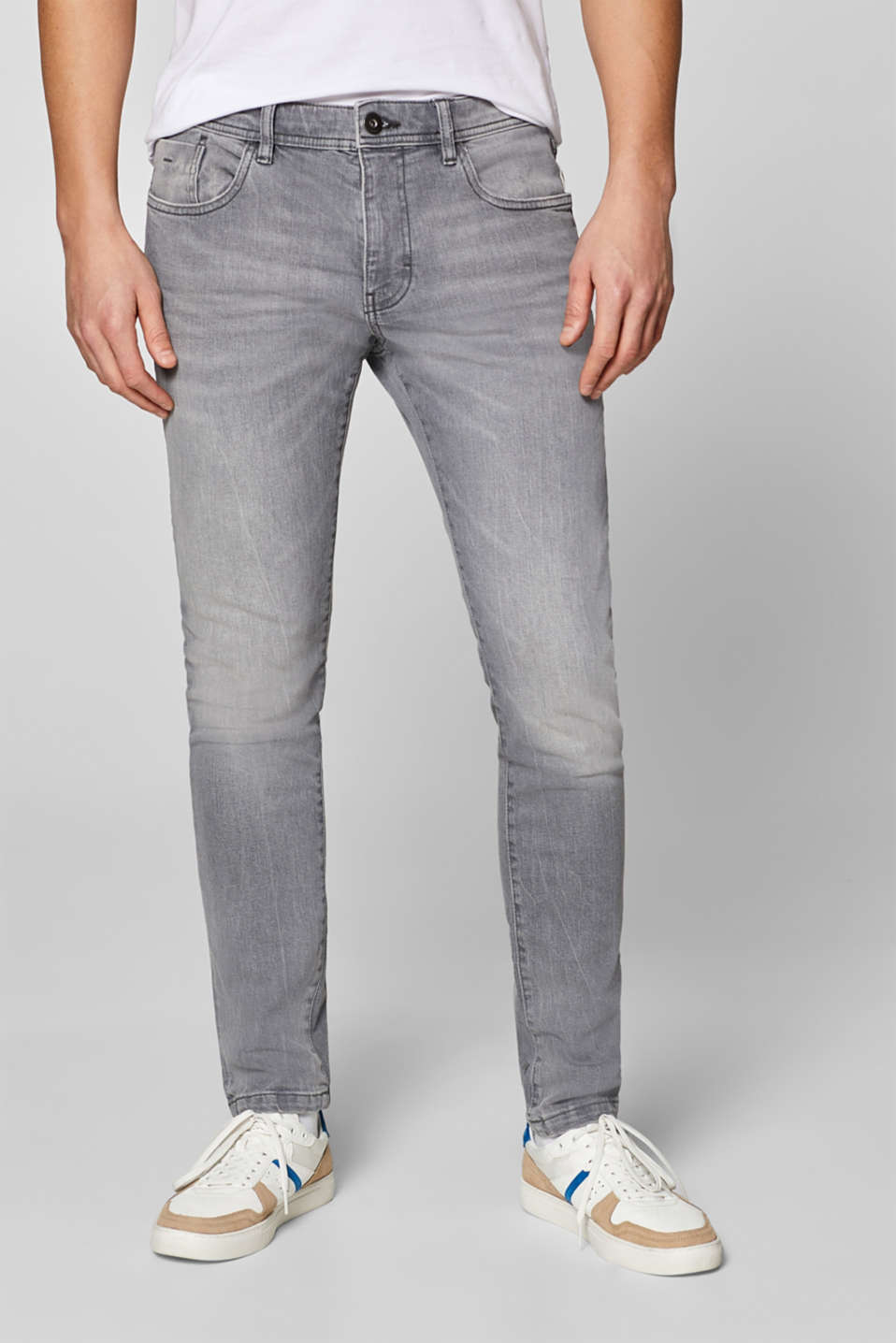 edc - Stretch jeans with wrinkled effect