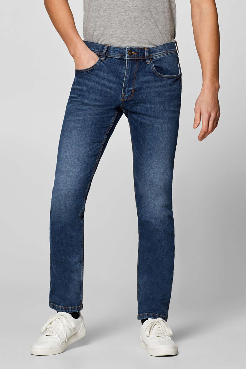 edc - Vintage wash stretch jeans