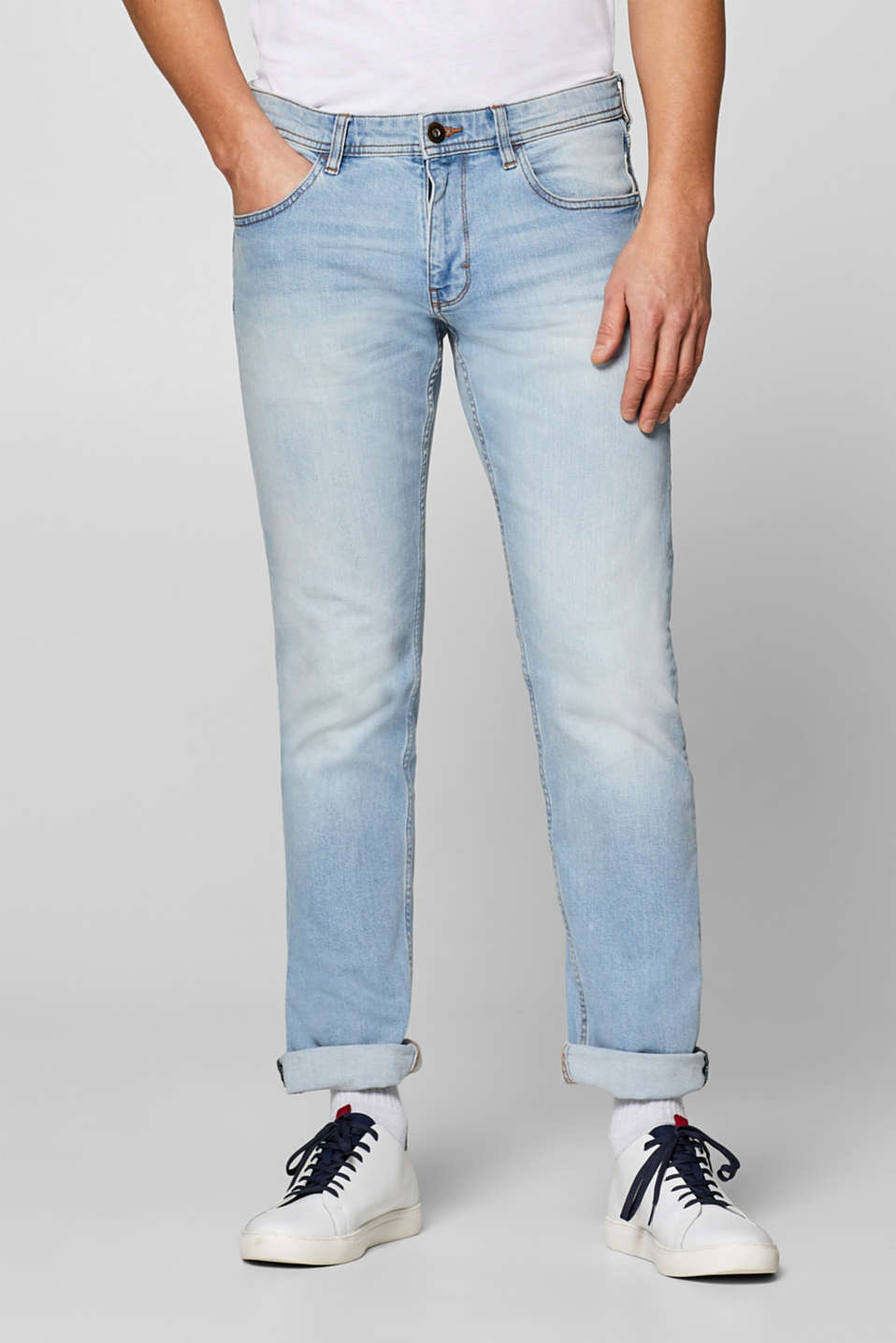edc - Stretch-Jeans mit Used-Waschung