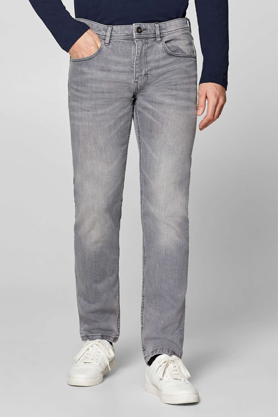 edc - Stretch-Jeans mit Washed Out-Effekt