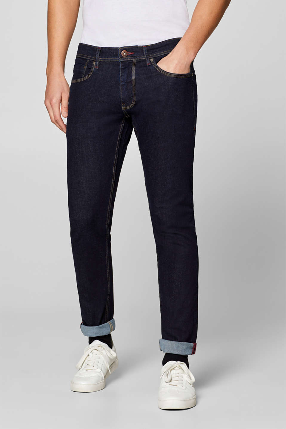 edc - Stretch jeans with contrasting stitching