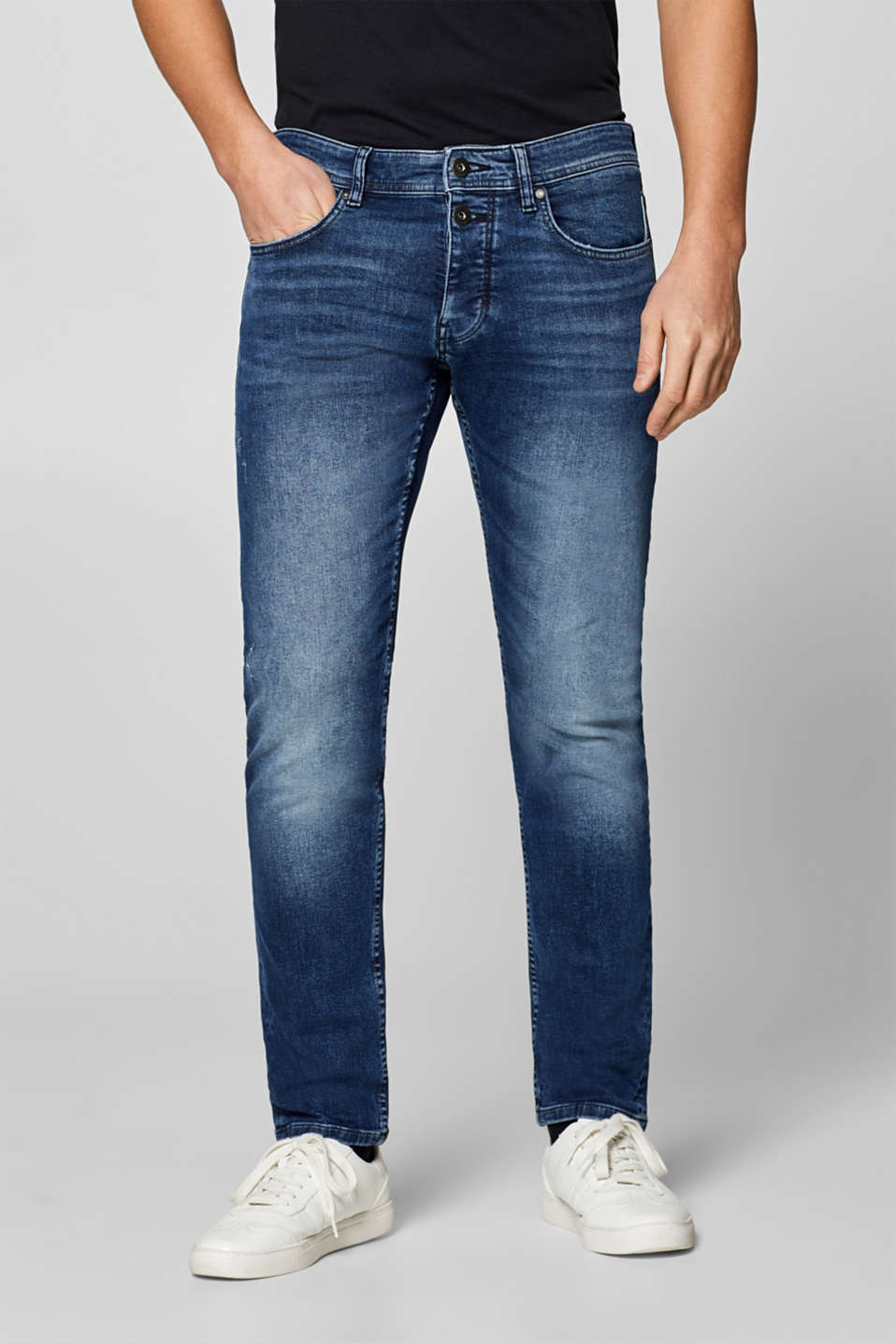edc - Stretch-Jeans mit Button-Fly