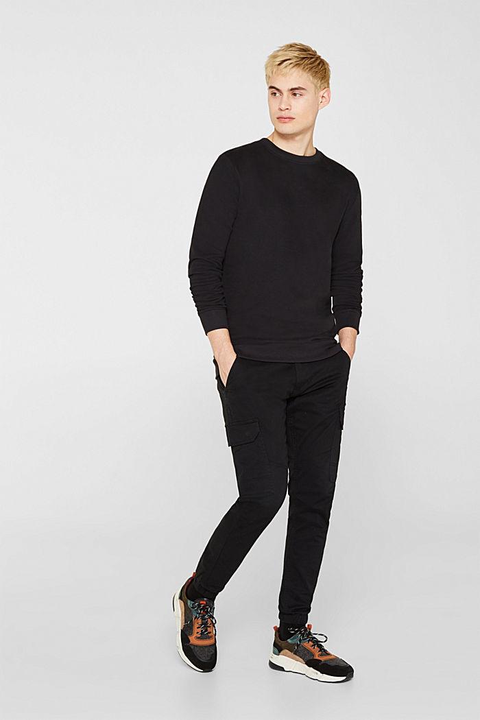 Sweatshirt in 100% cotton, BLACK, detail image number 4