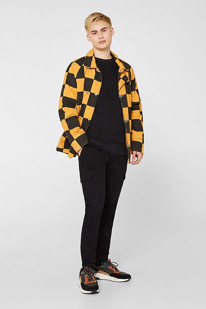 Sweatshirt in 100% cotton, BLACK, detail image number 1