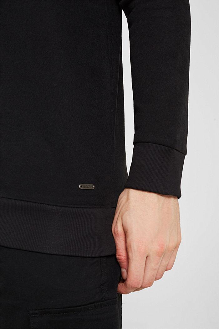 Sweatshirt in 100% cotton, BLACK, detail image number 2
