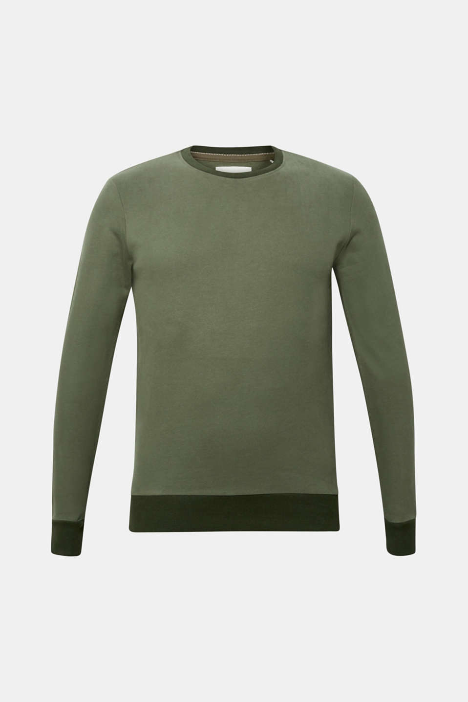 Sweatshirt in 100% cotton, KHAKI GREEN, detail image number 5