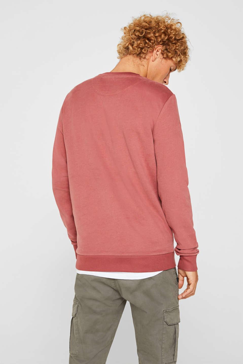 Sweatshirt in 100% cotton, BLUSH, detail image number 3