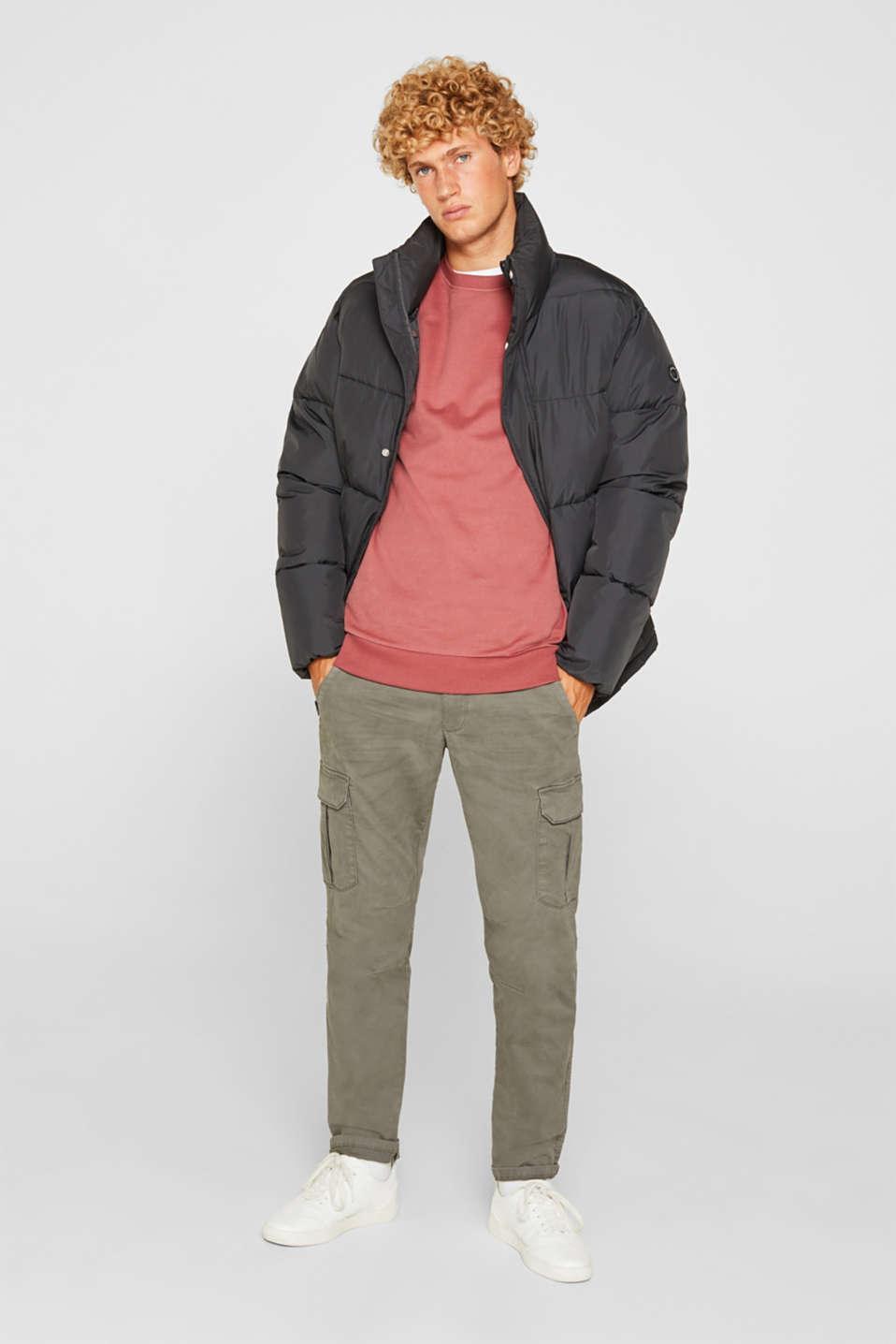 Sweatshirt in 100% cotton, BLUSH, detail image number 1