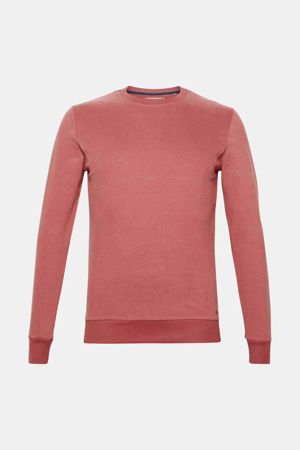 Sweatshirt in 100% cotton, BLUSH, detail image number 6