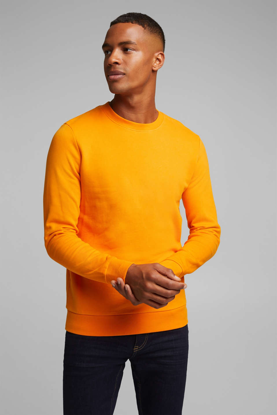 Sweatshirt in 100% cotton, ORANGE, detail image number 0